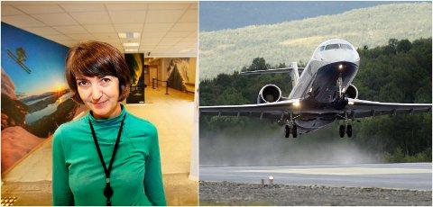 GLEDELIG: Mona Ringstrand i Avinor synes det er gledelig at de snart kan tilby flere utenlandsturer fra Tromsø Lufthavn.