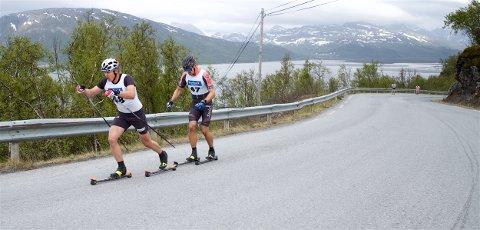 TUNGE TAK: Erik Valnes Startet 15 sekunder bak Andreas Nygaard. I den 4 kilometer lange bakken hentet han inn forspranget, og var først i mål.