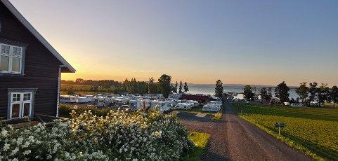 EVJUA CAMPING: I likhet med de fleste andre campingplassene i området, har Evjua merket stor pågang av gjester i sommersesongen.