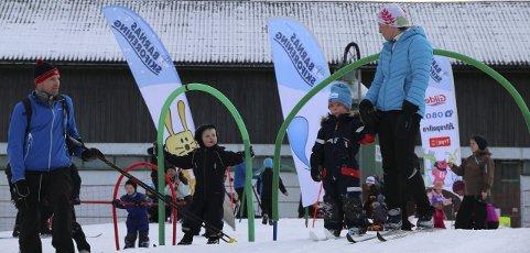 BLI MED PÅ LEKEN: Søndag blir det mye moro, særlig for de minste, i skiløypene og i skileiken på Østre Greverud gård. FOTO: SKIFORENINGEN SØRMARKA