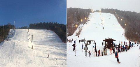 Før og etter:Bildet til venstre er tatt helgen før hjertesukket - bildet til høyre viser resoponsen innlegget ga.