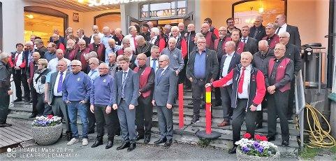 Dettakere: Noen av de rundt 300 deltakerne under Norges Korforbund avd Helgeland sangerstevne 24.- 26. mai.