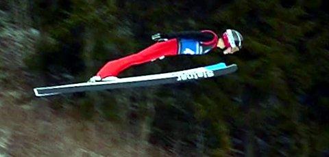 23. plass i NM: Eirik Leander Fystro ble nummer 23 i helgas NM i hopp i Midtstubakken. Her fra et tidligere renn i normalbakken.
