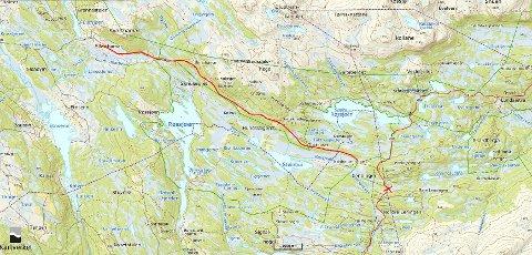 Ny: En sykkelsveg er tenkt etablert mellom Svarthamar og Lenningen.