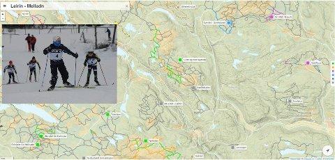 Ut på tur: På skisporet.no kan en finne ut hvor det er kjørte spor. Det er oppkjørt mange løyper i hele Valdres.