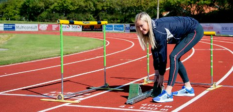 PÅ TRENING: Nora Wold fikk Fredrikstad kommunes idrettspris.