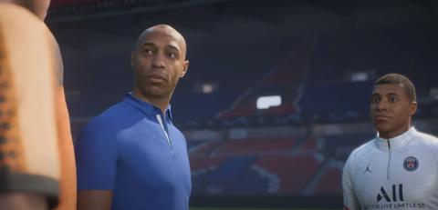 FIFA 22 starter med stjernetunge PSG i Paris. Thierry Henry er gjest.