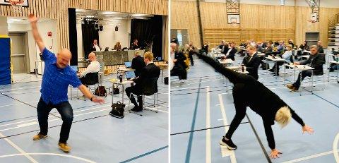 Trond Viggo Opdal (Ap) og Nina Dons-Hansen (H) slo hjul av glede.