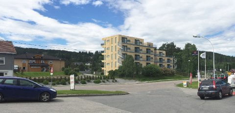 Slik kan det nye leilighetsbygget bli seende ut fra Shell/7-Eleven Bjørkelangen.