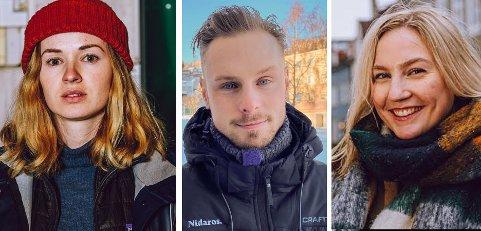 Marthe Svendsen, Thomas Tangen og Jenny Westrum-Rein er blant Nidaros-journalistene som skal dra ut i bydelene på jakt etter de gode sakene fra ditt nabolag.