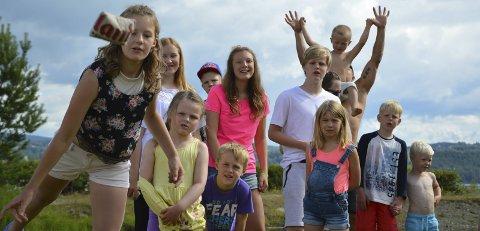 Konkurranse: Moro-faktoren var høy da barna på Sveastranda Camping deltok på tevlinger som OAs sommerpatrulje stelte i stand onsdag.