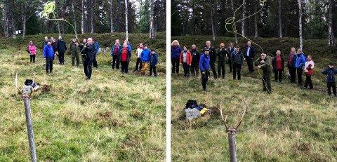 LASSO: Både klima- og miljøminister Ola Elvestuen og fylkesmann Sigbjørn Johnsen fikk testet lassoferdighetene i helga. Foto: Knut Eggen