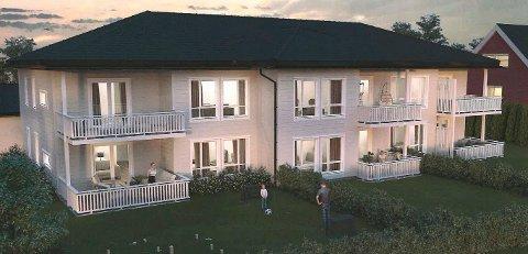 NYBYGG: Den planlagte seksmannsboligen på Hasle kan bygges, selv om den inneholder én leilighet mer enn det som utløser krav om reguleringsplan. (Illustrasjon: Sivil