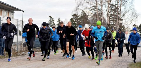 TORSDAGSLØPET: Det var 32 deltagere i Torsdagsløpet denne gangen.