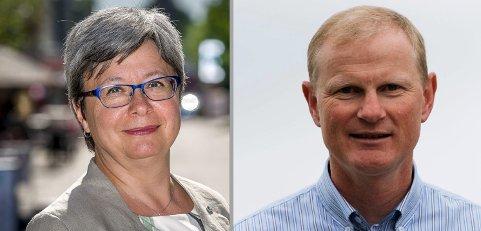Monica Carmen Gåsvatn (fylkestingskandidat, Viken Høyre) og Erlend Larsen (stortingsrepresentant, Høyre).