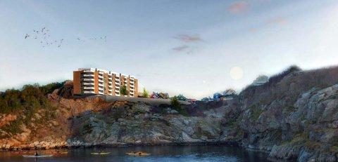 Det er planer om et leilighetsbygg i prosjektet Storhaugen Panorama.