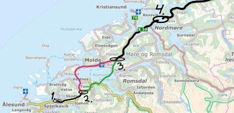 Illustrasjonen er laget av Terje Grytten Finnøy, og viser nevnte punkt på Ørskogfjellet og Hjelset, samt at Molde sentrum er svært lite egnet som målepunkt