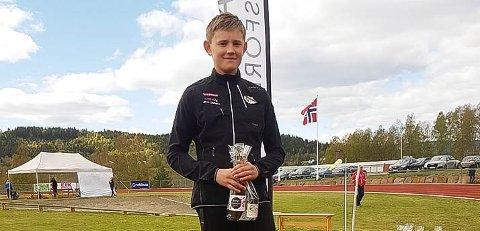 TALENT: Even Bolle (13) fra Vestby IL er et stort kasttalent og en av de aller beste i sin årsklasse i Norge i både kule og diskos.