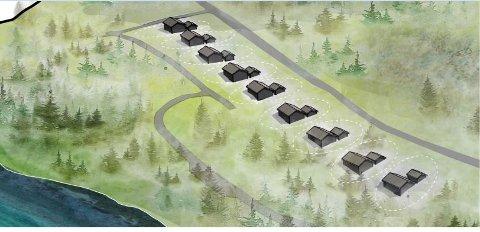 Nytt hyttefelt: Slik kan litt av det planlagte hyttefeltet bli seende ut. Det legges opp til at det kan komme opp til 91 nye hytter med beliggenhet til både sjø og fjell.