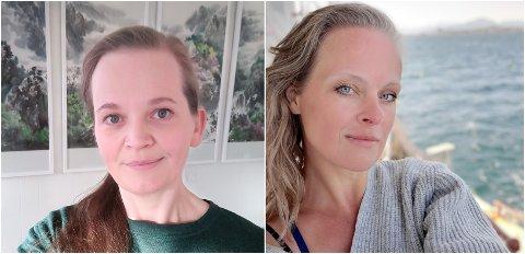 PILATES OG YOGA: F.V: Leela Anita Kjørvik og Gunhild Merete Giil Desilets.
