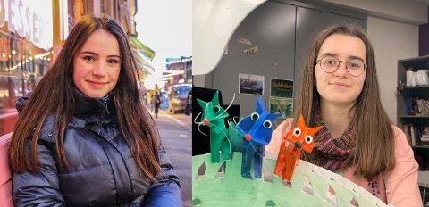 Kornelia Eline Skogseth (t.v.) og Sofia Idstad stakk av med hver sin pris under årets utgave av Amandusfestivalen, som gikk av stabelen i forrige uke.
