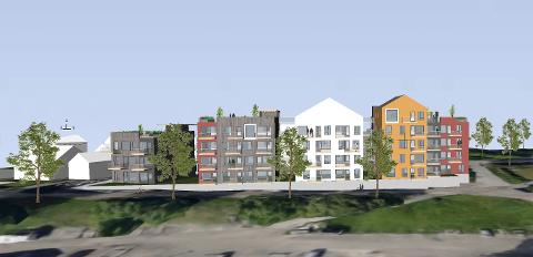Lillehammer Brygge på Vingnes er planlagt med bygg fra tre til fem etasjer.