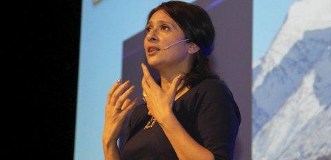 ENGASJERTE: Foredragsholder Loveleen Rihel Brenna. Foto: Jarl G. Sandholm