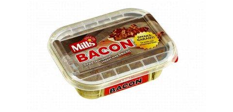 «Mills Ovnsbakt Baconpostei» med best før dato 18.05.2020 trekkes tilbake fra markedet. Foto: Mills AS / NTB scanpix