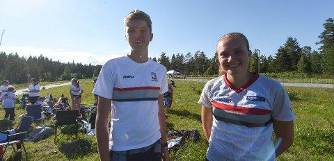 GODE PÅ HJEMMEBANE: Andreas Myrvold Skovlyst og Åsne Haavengen leverte to greie sprintløp, da O-festivalen ble innledet på Heistadmoen fredag.