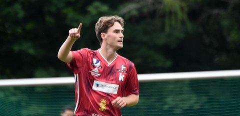 AVGJORDE: Jørgen Engerud scoret begge KIFs mål, da rødtrøyene slo Stoppen 2-0. FOTO: OLE JOHN HOSTVEDT