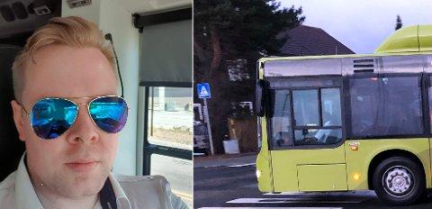 Christian Jørgen Roli Andersen kjører rute 3 fra Dragvoll til Hallset. Ved sistnevnte stopp, er det en problematisk strekning.