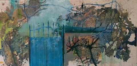 """ANTATT PÅ UTSTILLINGEN: """"Port"""" 120x60 cm, malt av Astrid Omberg, er blant bildene du kan se på utstillingen i SNK fra 30. mars til 7. april."""