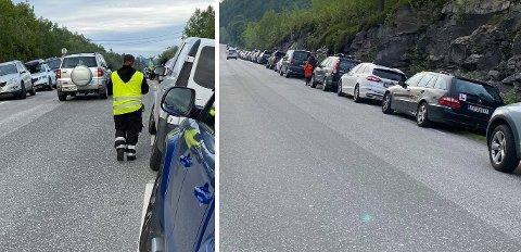Mange bilister fikk seg en kostbar tur i kveld. Foto: Geir Tårnesvik