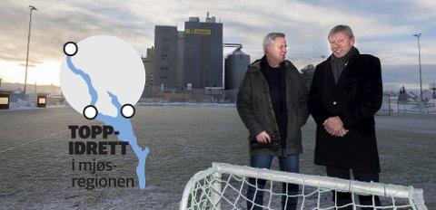 I bakleksa: Dag Opjordsmoen (t.v) og Torfinn Overn mener lite har skjedd etter at Toppidrettsprosjektet i Gjøvikregionen ble avsluttet. Begge mener regionen ligger langt bak de beste prestasjonsmiljøene når det gjelder toppidrett.