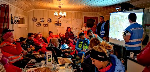 ØVELSE: Røde Kors og en rekke samarbeidspartnere øvde i Valdres sist helg. Foto: Røde Kors