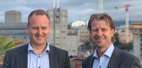 NYE EIERE: Konsernsjef Morten Grongstad i AF Gruppen og administrerende direktør Jørgen Evensen i Betonmast går sammen om å kjøpe Betonmast.