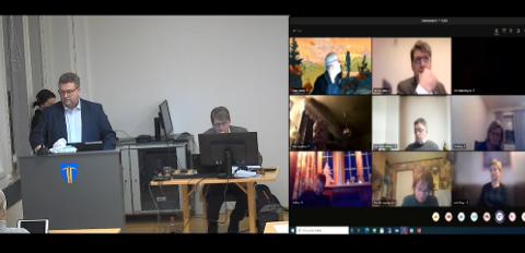 DIREKTE FRA NORDRE: Kommunestyret i Nordre Land arrangeres både digitalt og i kommunestyresalen i kveld.