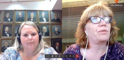 BOM ELLER IKKE: Marte Larsen Tønseth (Sp) ønsker bomfri sideveg, men fikk ikke støtte hos Anne Karin Torp Adolfsen (Ap) i onsdagens digitale møte i Løten kommunestyre.