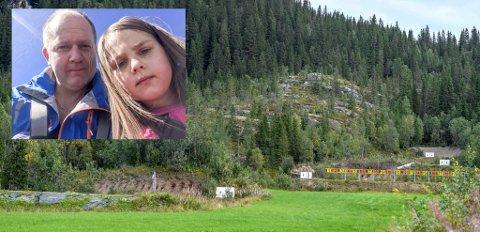 Vidar Westgaard var på tur blant annet sammen med datteren Kathrine da de skulle opp på Røssvollheia i området bak skytebanen, da de fikk en kule over hodene sine.