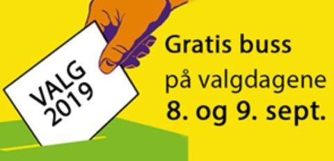 GRATIS BUSS: Vestfold kollektivtrafikk ønsker velkommen til gratistur med lokalbusser på valgdagene. FOTO: VKT