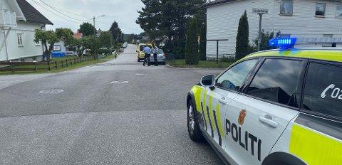 En syklist og en bil hadde et uhell på Lande torsdag.