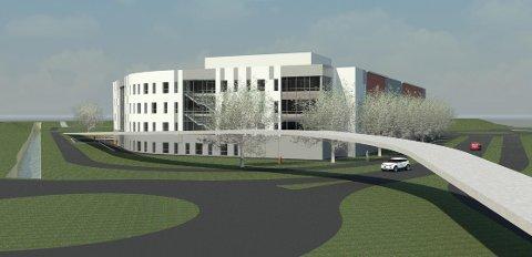 Slik skal den nye bedriftidrettshallen på Forus se ut når den er ferdig (illustrasjon: Backe Rogaland AS og Lønnheim Idrett AS).