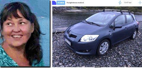 Eva Haagensen (bildet) føler seg lurt av kristiansunderen som solgte henne Toyotaen i bildet.