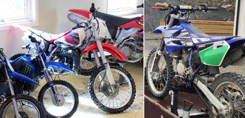 En Yamaha YZ 85 og en Honda CR 85 crossykkel er stjålet fra Averøy Motorsportklubb. Vet du noe om tyveriet er både klubben og politiet interesserte i opplysningene.