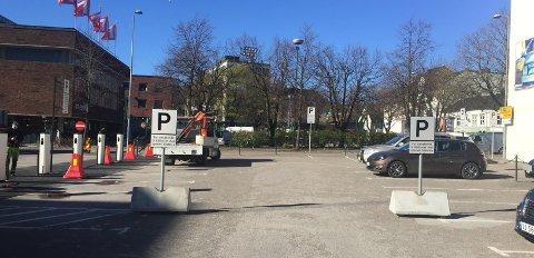 PARKERING: Her kan du parkere om du skal til rådhuset.