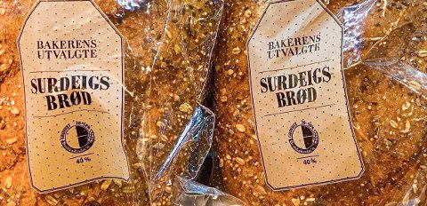 Bakehuset AS trekker tilbake produktet «Bakerens utvalgte surdeigsbrød» solgt i butikk 25.08.2021. Produktet er et dagsferskt produkt. Årsaken er at det kan være et annet brød som er pakket i posen. Dette kan medføre helsefare for sesamallergikere. Foto: Bakehuset AS / NTB