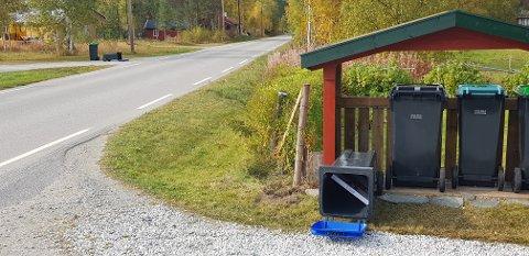 TATT AV VINDEN: En Retten-leser spør hva FIAS-abonnentene skal gjøre for å hindre at de nye søppeldunkene blir tatt av vinden.