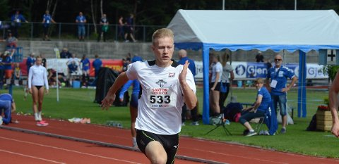 FORNØYD: Per Ellef Aalerud var fornøyd med å komme til finalen på 100 meter.