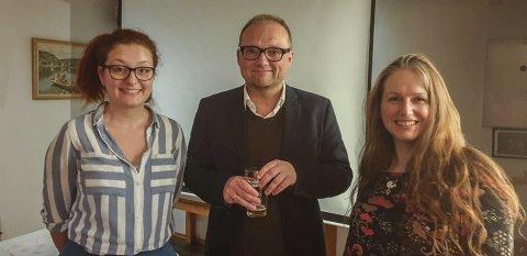 De tre innlederne: Fra v. Unn Fyllingsnes, Åsmund Ormset og Vanessa Williamsen.