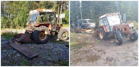 Dette er traktorane som blei stolne.